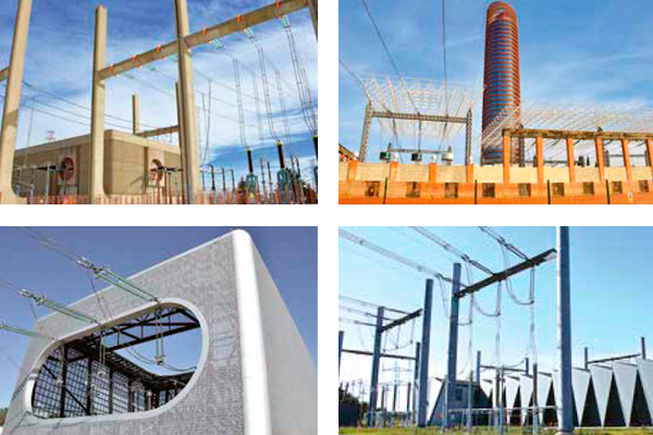 Examples of substations with high emphasis on aesthetic content.