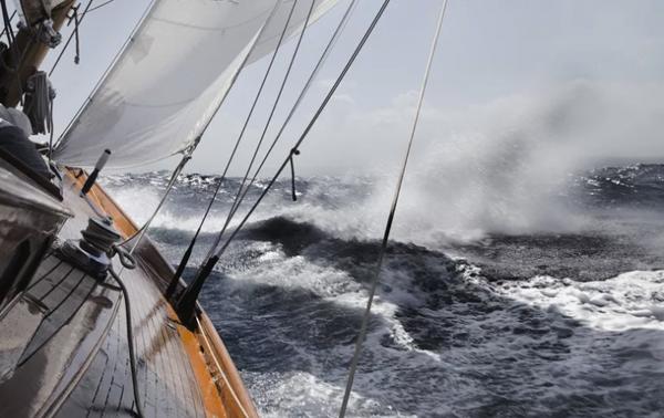 sailing through rough seas