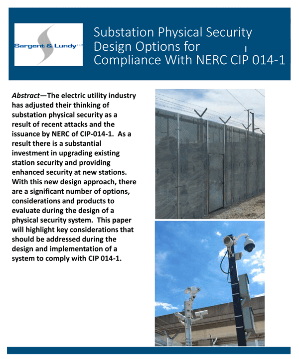 Perimeter Substation Physical Security Design Options for Compliance with NERC CIP 014-1