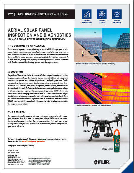 AERIAL SOLAR PANEL INSPECTION AND DIAGNOSTICS