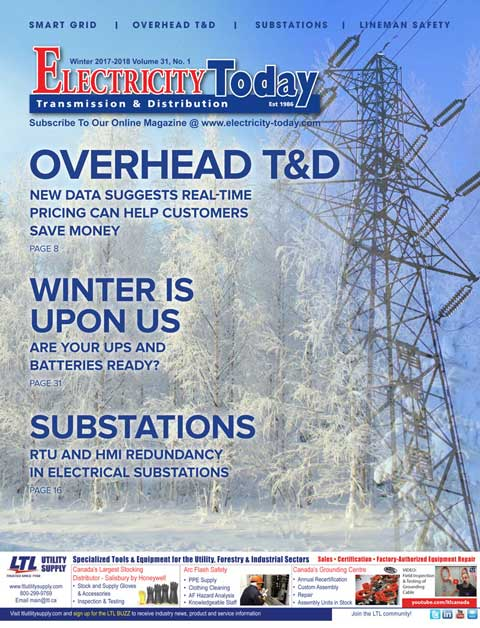 Electricity Today T&D Magazine - Winter 2018 Edition