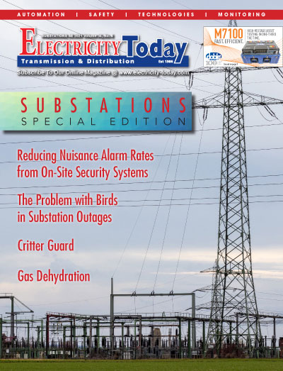 Electricity Today T&D Magazine - Electrical Substations Special Issue. 2021.