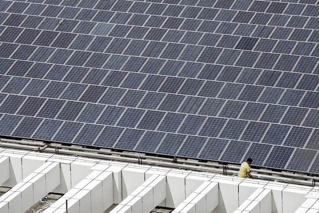 Solar power is increasingly available around the clock as energy storage become more affordable