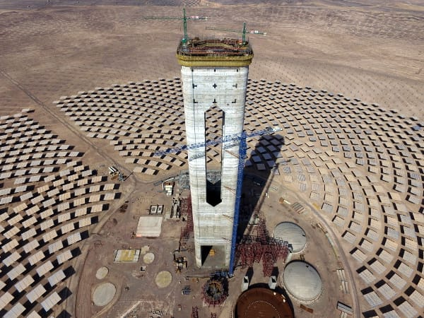 The Cerro Dominador solar thermal plant. Photo: courtesy of Abengoa.