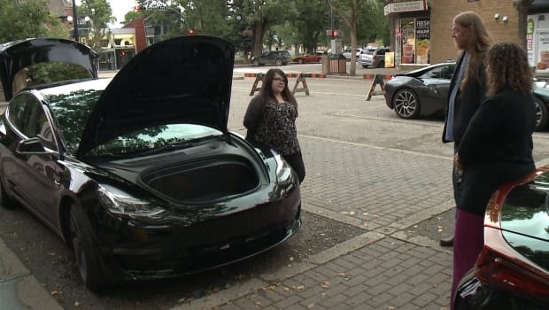 People interested in electric vehicles are able to learn more about the technology from the people who drive them during a special event in Lethbridge.