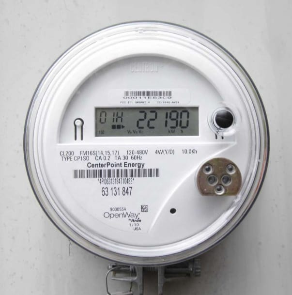 A CenterPoint Energy smart meter.