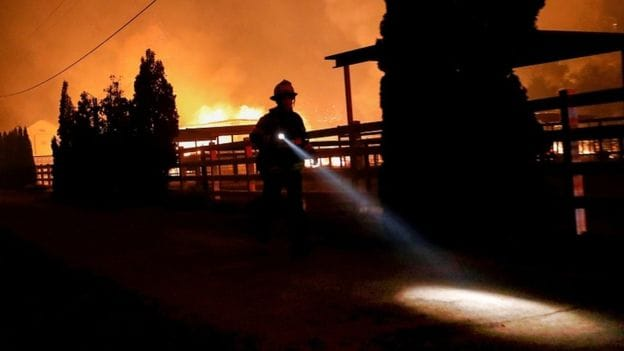 An estimated 1.5 million more people are set to lose power as PG&E tries to stop downed powerlines triggering wildfires.