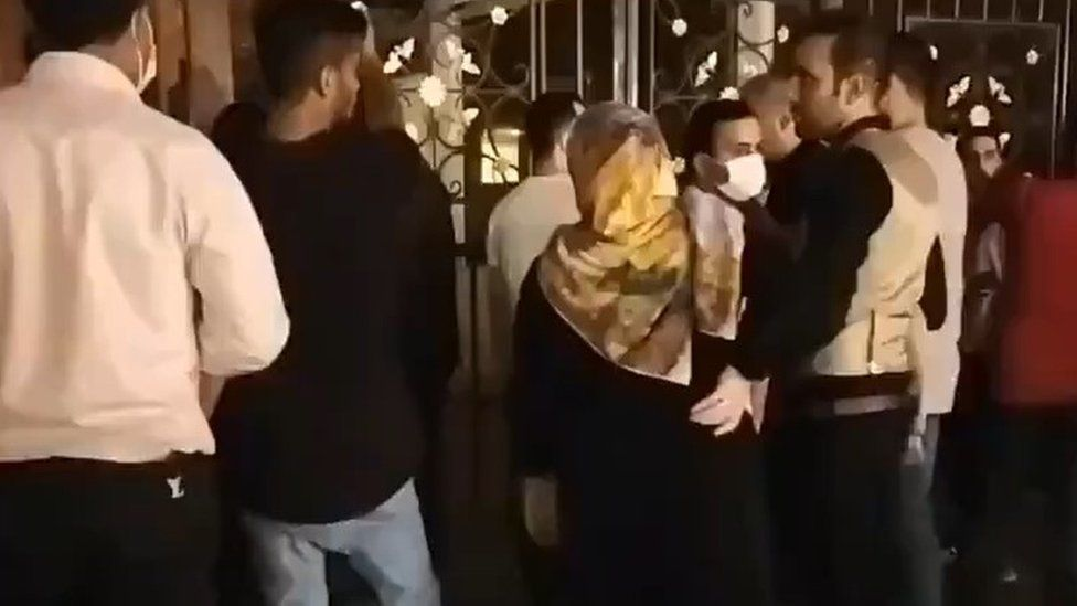 One video posted online purportedly showed a protest in the northern city of Amol