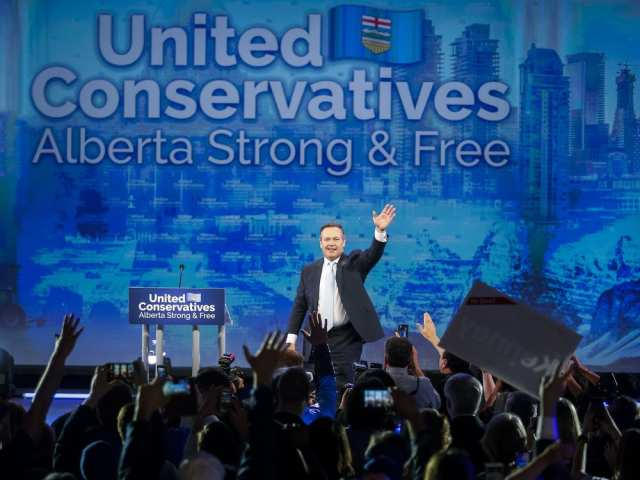 United Conservative Party leader Jason Kenney addresses supporters in Calgary