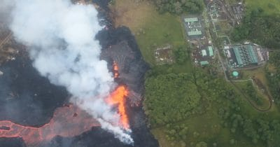 Lava continues to flow towards Hawaii's PGV geothermal power plant.