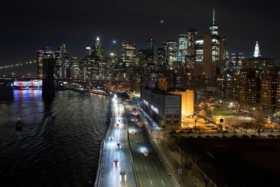 Manhattan skyline Thursday, March 26, 2020, during the coronavirus outbreak in New York.
