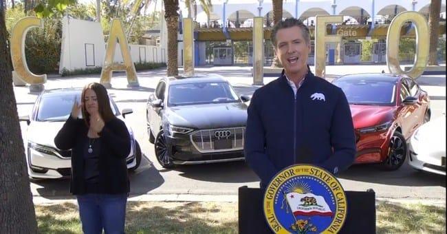 Governor Newsom announces major climate initiative, September 23, 2020.