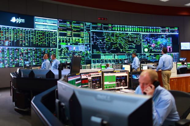 A view of the PJM control room. The grid operator, based outside Philadelphia is the nation's largest.