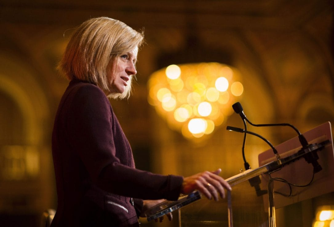 "Alberta Premier Rachel Notley said her government would do ""whatever it takes"" to get the Kinder Morgan pipeline built."