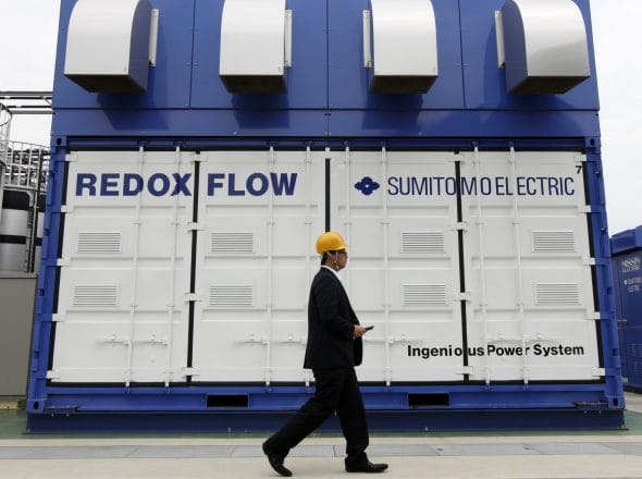 Vandium Flow Battery Storage
