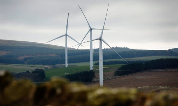Small windfarms like this one in Scotland will generate all the electricity sold through the tariff