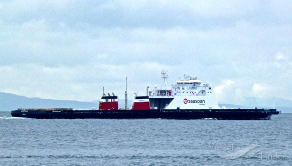 The Seaspan Reliant is one of two natural gas/electric hybrid ships working on the B.C. coast.