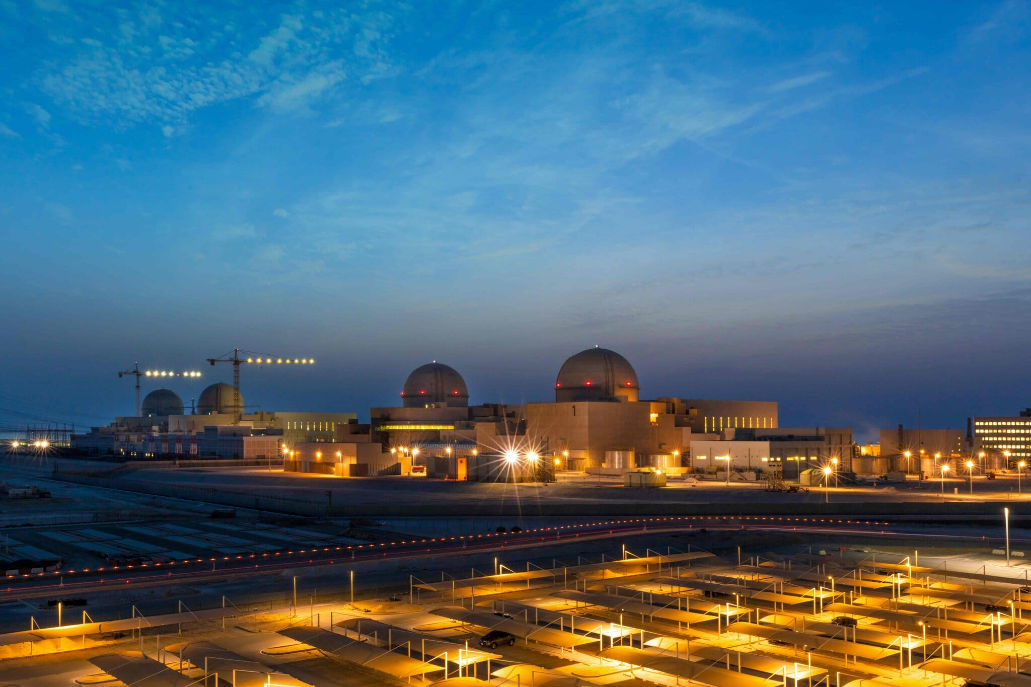 A photo provided by United Arab Emirates government shows the Barakah nuclear power plant.Credit...